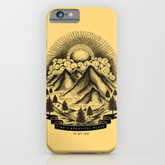 FIND A BEAUTIFUL PLACE TO GET LOST (Yellow) iPhone 6 Slim Case
