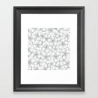 Cherry Blossom Mint Framed Art Print