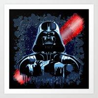 Darth Vader Mask On Dark… Art Print
