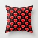 Valentine in Black Throw Pillow