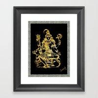 SHIVA - Hindu God Of Des… Framed Art Print