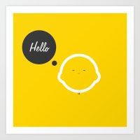 Hello Pets no.1 Art Print