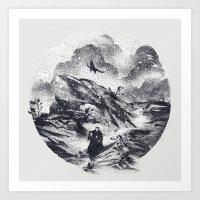 Follow The Raven Art Print