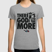 There's God to Be More Womens Fitted Tee Athletic Grey SMALL