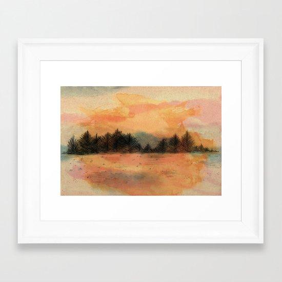 Horizonte distante Framed Art Print
