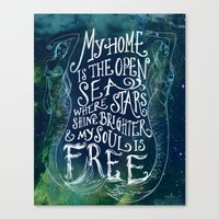 My Home is the Open Sea Canvas Print