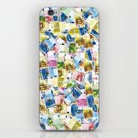 Colorful Euros Pattern iPhone & iPod Skin