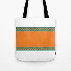 Aqua & Orange Tote Bag