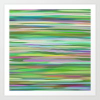 Swimming Stripes Art Print