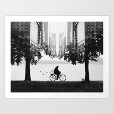 Ride Away Art Print