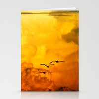 Flight at the Golden Hour Stationery Cards
