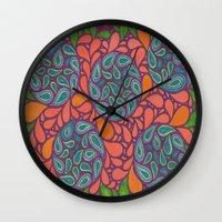 Exotic Plant Life Wall Clock