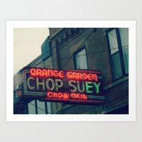 Chop Suey II ~ Chicago vintage neon sign Art Print