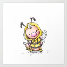 Always Bee Happy =) Art Print