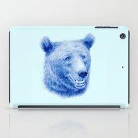 Brown bear is blue iPad Case