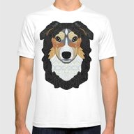 Zeke - Mountain Dog Mens Fitted Tee White SMALL