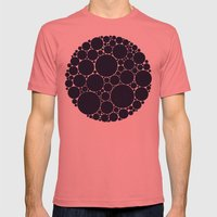 Floating Dots Mens Fitted Tee Pomegranate SMALL