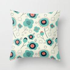Floral Doodle Throw Pillow