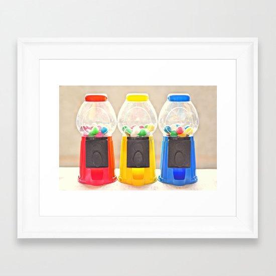 Bubble Gum in Primary  Framed Art Print