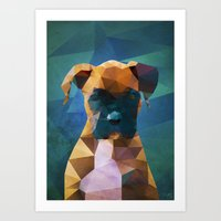 The Boxer - Dog Portrait Art Print