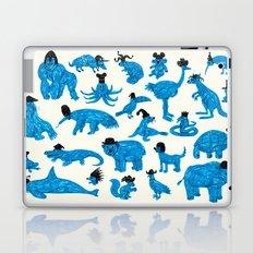 Blue Animals Black Hats Laptop & iPad Skin