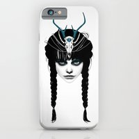 hair iPhone & iPod Cases featuring Wakeful Warrior - In Blue by Ruben Ireland