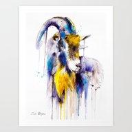 Art Print featuring Goat  by Slaveika Aladjova