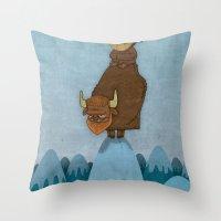 Man of the Mountains Throw Pillow