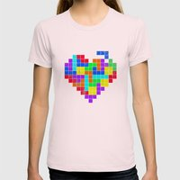 THE GAME OF LOVE Womens Fitted Tee Light Pink SMALL