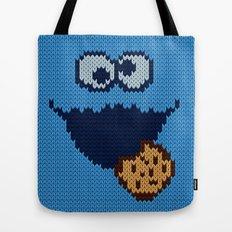 monster 'nom nom' knit Tote Bag