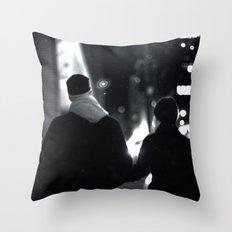 42nd Street Stroll Throw Pillow
