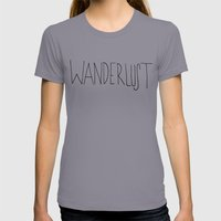 Wanderlust Ocean Womens Fitted Tee Slate SMALL