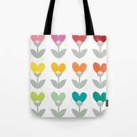 Heart petals Tote Bag