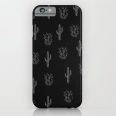 Cactus Pattern Black iPhone 6 Slim Case