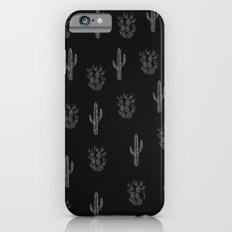 Cactus Pattern Black iPhone 6 Slim Case