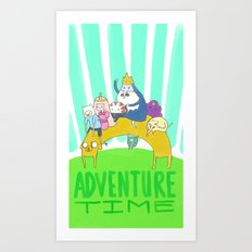 Time to Adventure! Art Print