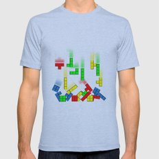 Upps!! Tetris Mens Fitted Tee Athletic Blue SMALL