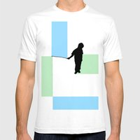 Fishing For Color Mens Fitted Tee White SMALL