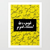 TOTALLY BANANAS Art Print