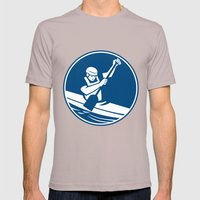 Canoe Slalom Circle Icon Mens Fitted Tee Cinder SMALL