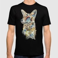 Heroes of Lylat Starfox Inspired Classy Geek Painting Mens Fitted Tee Black SMALL