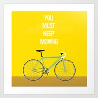 Bicycle- You Must Keep M… Art Print