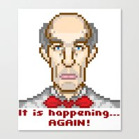 It is happening... again (Twin Peaks Giant) Canvas Print