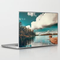 sunset Laptop & iPad Skins featuring Belle Svezia by HappyMelvin