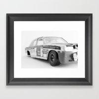 Wrecked Toy Car - Alpha … Framed Art Print