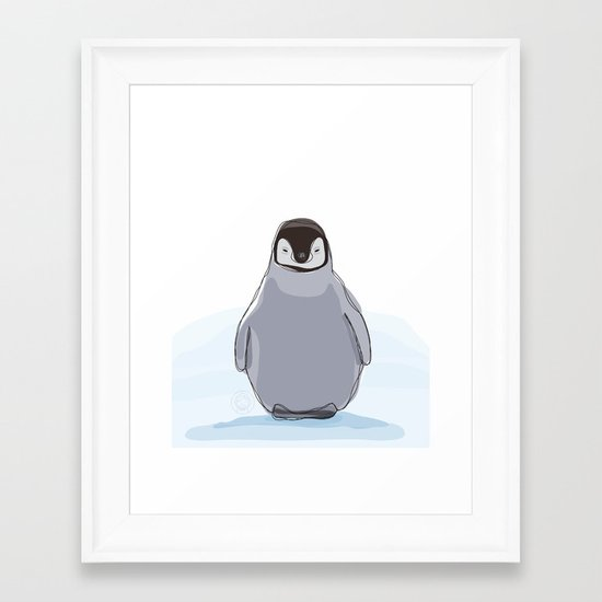 Emperor Penguin Framed Art Print