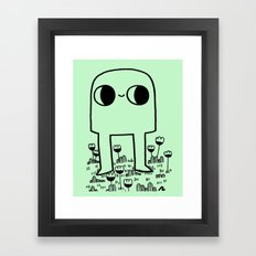 Out In The Yard Framed Art Print
