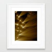 Flashing Lights Framed Art Print