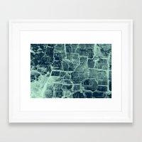 Crackle Framed Art Print
