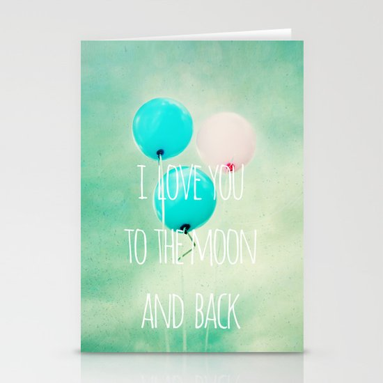 i love you to the moon and back Stationery Card